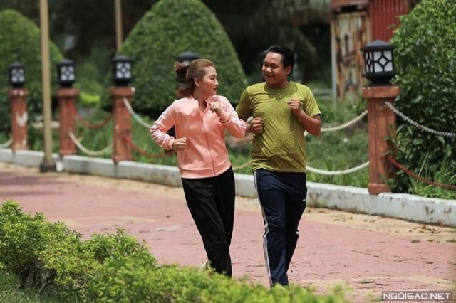 Ngọc Lan đóng cảnh chạy bộ giữa trưa - Ảnh 2.