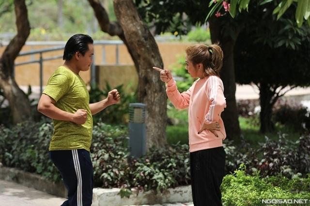 Ngọc Lan đóng cảnh chạy bộ giữa trưa - Ảnh 3.
