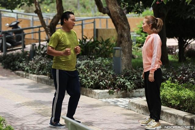Ngọc Lan đóng cảnh chạy bộ giữa trưa - Ảnh 4.