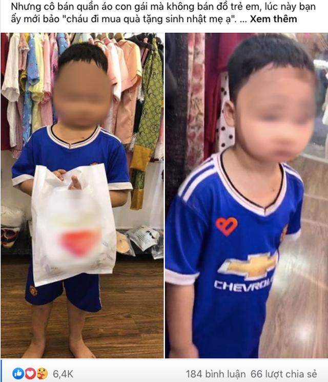 Vừa xách túi đồ ra khỏi shop quần áo, cậu bé bất ngờ bị bố vụt túi bụi, nhưng câu chuyện đằng sau mới khiến nhiều người xúc động - Ảnh 1.
