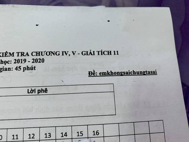 Nhìn vào mã đề bài kiểm tra toán 1 tiết, cả lớp cười ngất vì độ bắt trend của thầy quá nhanh và quá đỉnh - Ảnh 4.