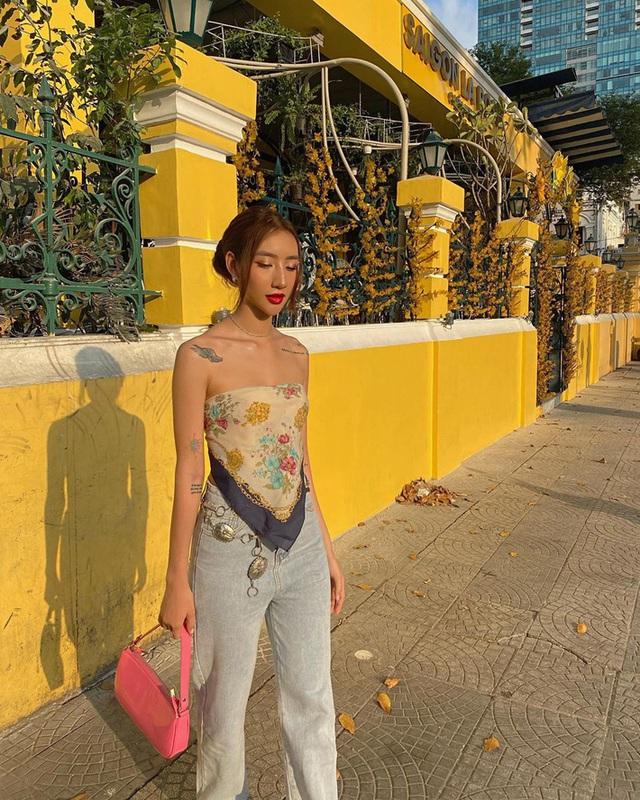 Không chỉ idol Hàn, hội gái xinh Việt cũng đang ầm ầm lấy khăn làm áo, ai cũng sexy thấy mê - Ảnh 5.