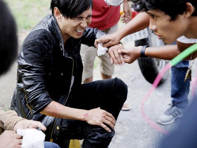 Thúy Ngân, Thanh Bình chấn thương khi quay phim hành động - Ảnh 9.