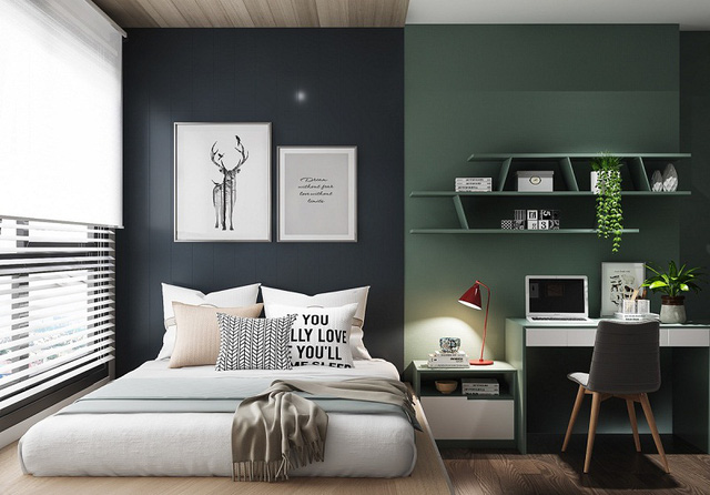 Ý tưởng thiết kế nội thất phòng ngủ diện tích 15m² với chi phí dưới 20 triệu đồng - Ảnh 3.