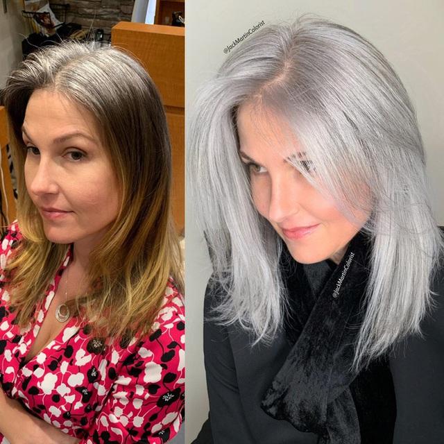Dịch vụ nhuộm tóc bạc giá nghìn đô vẫn được yêu thích - Ảnh 1.