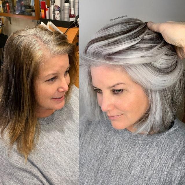 Dịch vụ nhuộm tóc bạc giá nghìn đô vẫn được yêu thích - Ảnh 4.