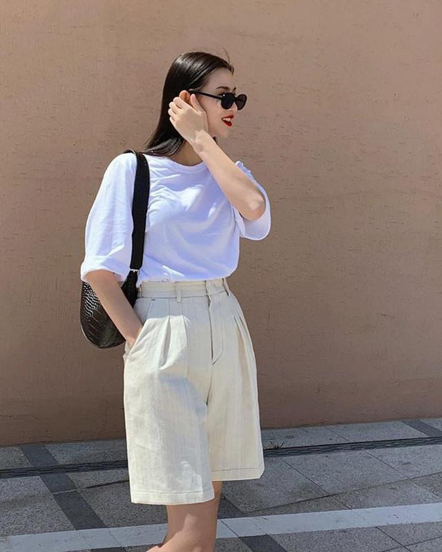Ai cũng biết quần short ống rộng là item hot nhất hè 2020, mix với kiểu áo nào cho sành điệu mới khó - Ảnh 10.