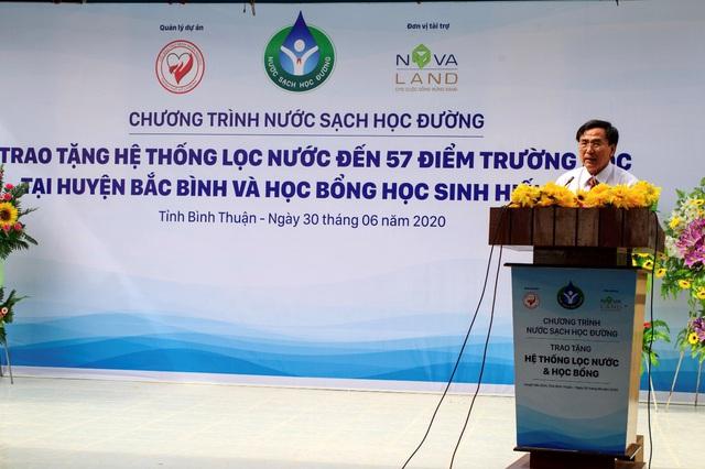 """Tập đoàn Novaland - lan tỏa niềm vui """"nước sạch học đường"""" đến huyện Bắc Bình, tỉnh Bình Thuận - Ảnh 1."""