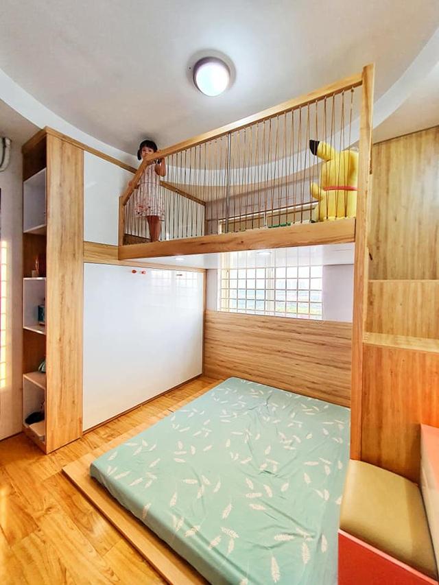 Ông bố trẻ quyết định đầu tư làm tặng con gái 1 phòng gác lửng đẹp như mơ với chi phí thật sự ấn tượng - Ảnh 2.