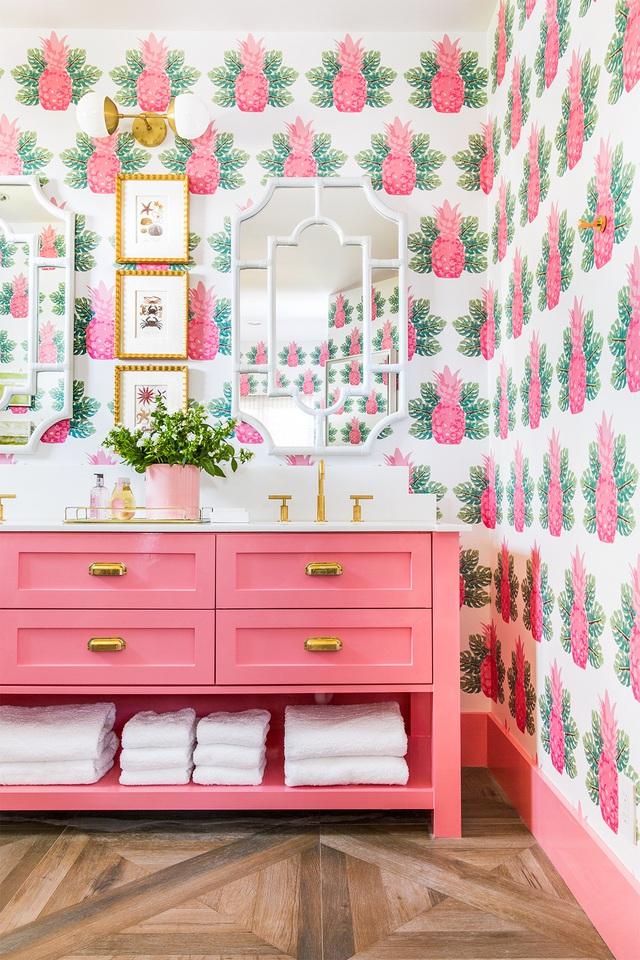 Những bí mật trang trí tường phòng tắm tạo nên không gian vui nhộn, đặc sắc - Ảnh 2.