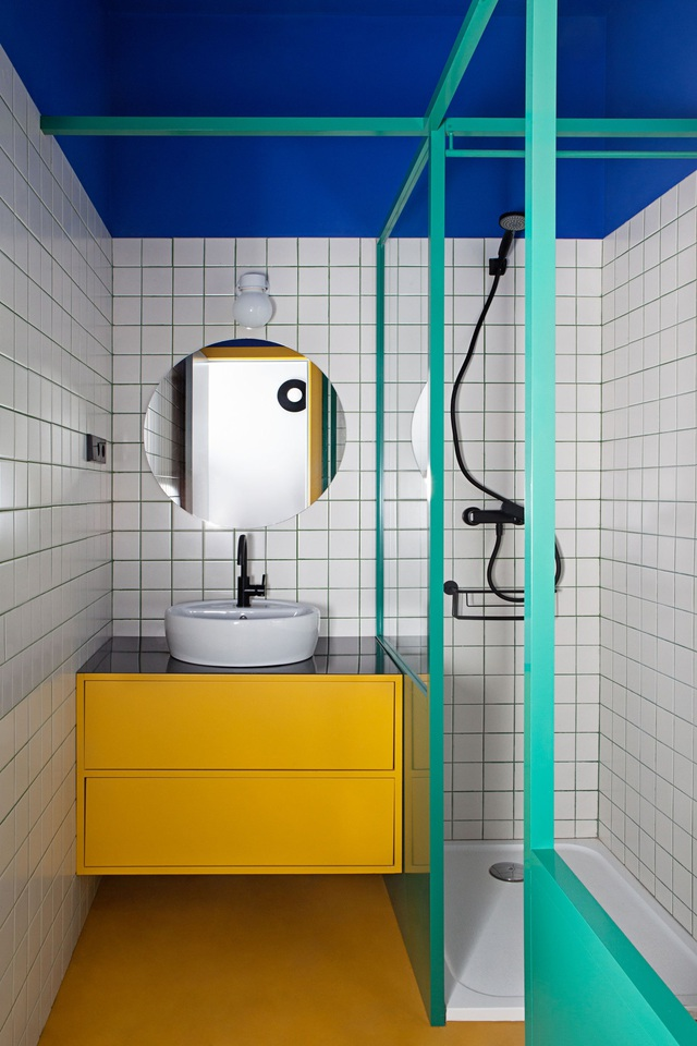 Những bí mật trang trí tường phòng tắm tạo nên không gian vui nhộn, đặc sắc - Ảnh 11.