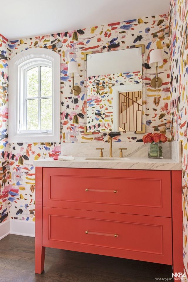 Những bí mật trang trí tường phòng tắm tạo nên không gian vui nhộn, đặc sắc - Ảnh 21.