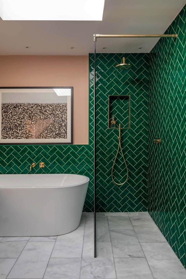 Những bí mật trang trí tường phòng tắm tạo nên không gian vui nhộn, đặc sắc - Ảnh 7.