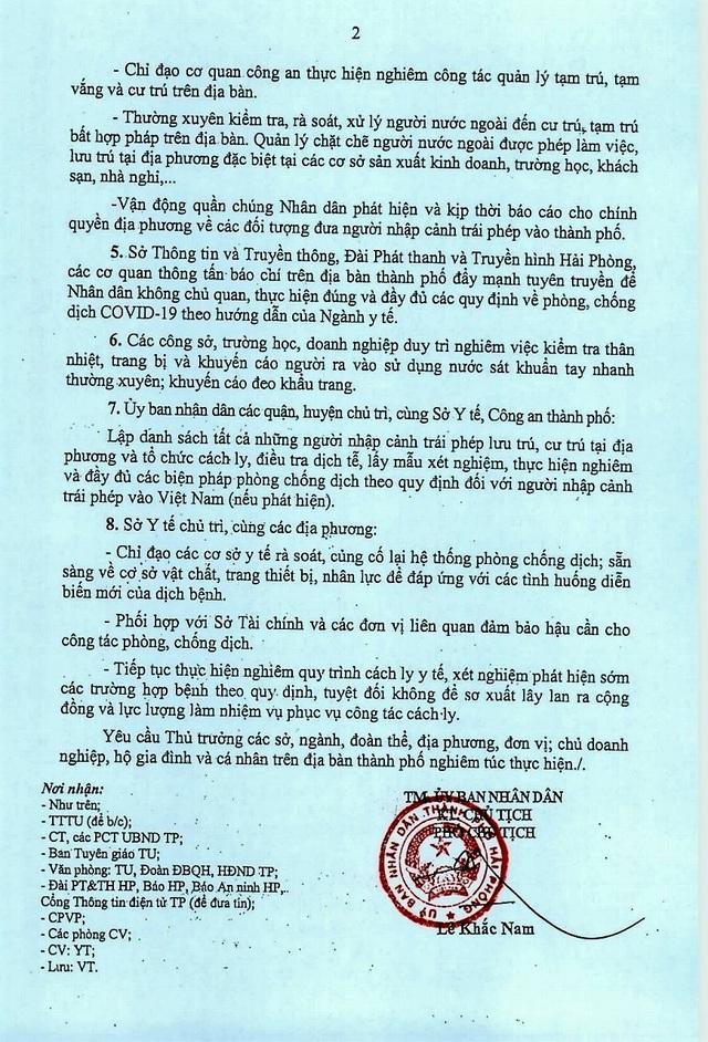 Hải Phòng: Cách ly tại nhà những trường hợp trở về từ Đà Nẵng  - Ảnh 2.