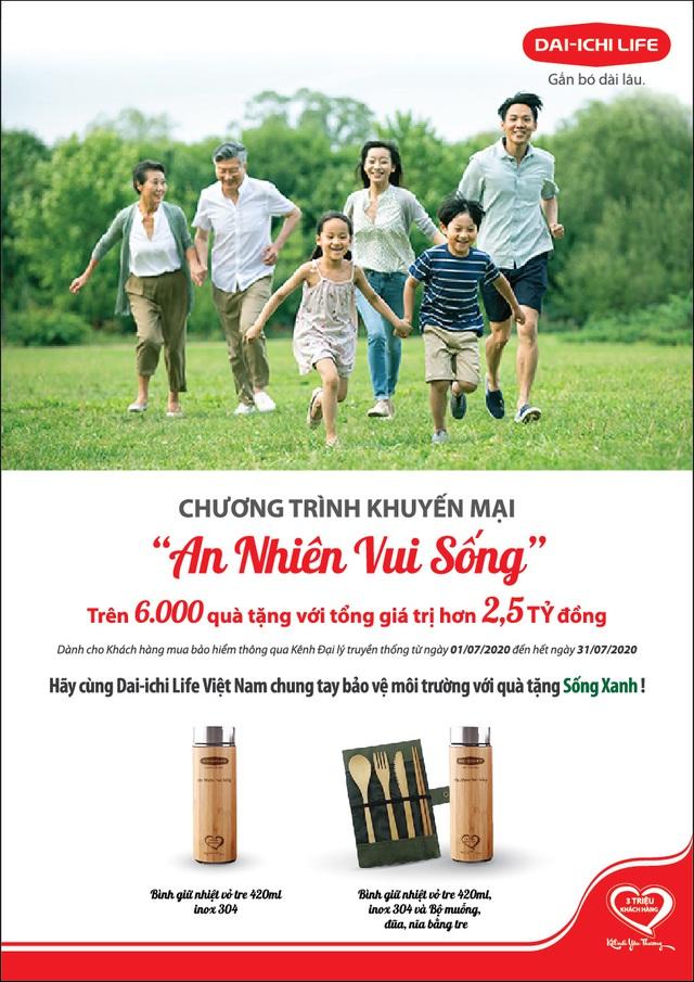 """Chung tay bảo vệ môi trường, Dai-ichi Life Việt Nam triển khai chương trình khuyến mại """"An Nhiên Vui Sống"""" - Ảnh 1."""