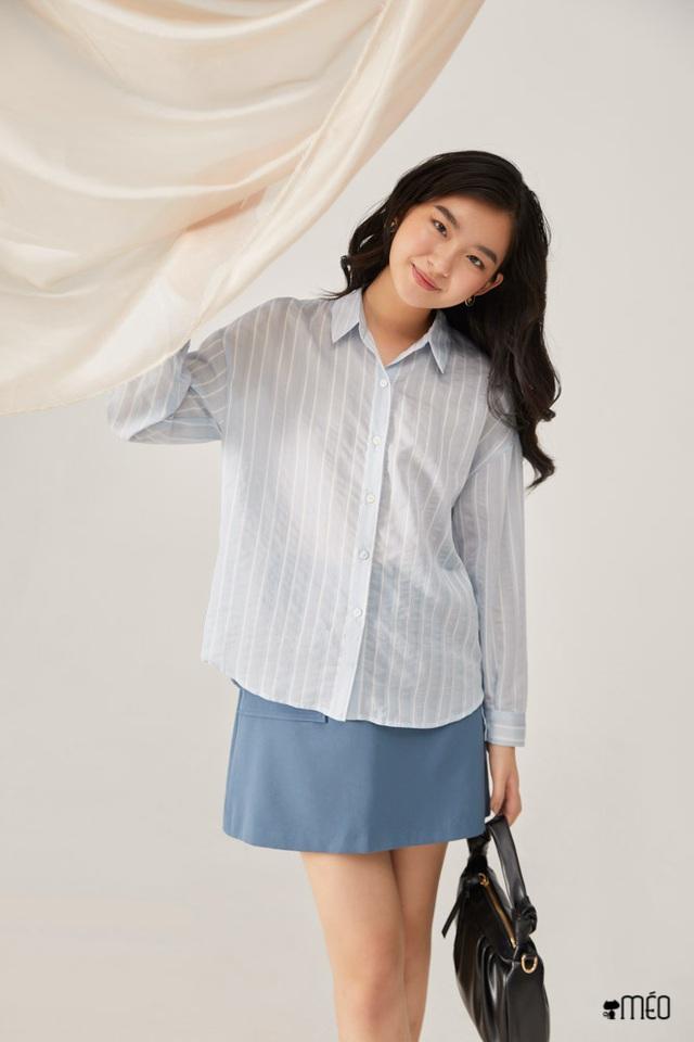 Mặc sơ mi trắng mãi rồi cũng chán, nàng công sở tìm ra thiết kế tương tự nhưng giúp chị em trẻ hơn vài tuổi  - Ảnh 12.