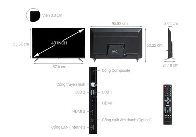 Top 5 mẫu TV thông minh 43 inch giá rẻ dưới 6 triệu - Ảnh 2.