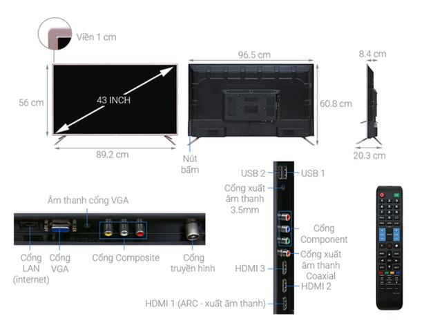 Top 5 mẫu TV thông minh 43 inch giá rẻ dưới 6 triệu - Ảnh 3.
