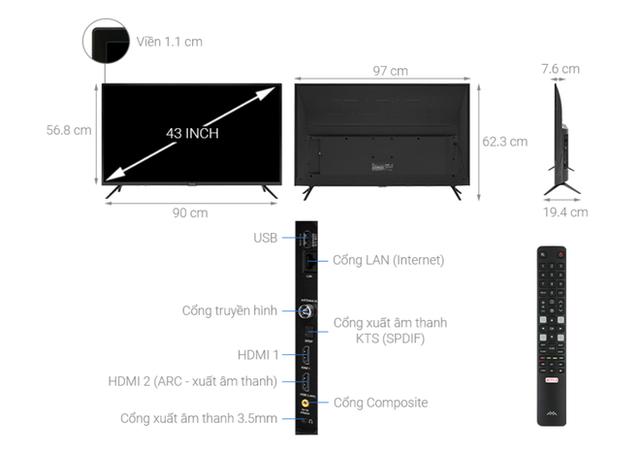 Top 5 mẫu TV thông minh 43 inch giá rẻ dưới 6 triệu - Ảnh 4.