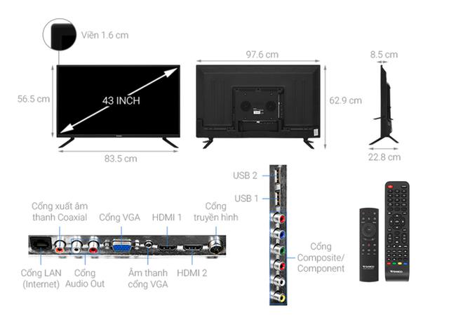 Top 5 mẫu TV thông minh 43 inch giá rẻ dưới 6 triệu - Ảnh 5.