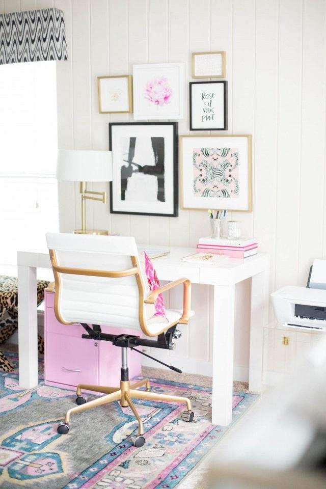 Những ý tưởng trang trí góc làm việc màu hồng ngọt ngào và mát lạnh dành cho các cô nàng đổi gió trong hè - Ảnh 15.