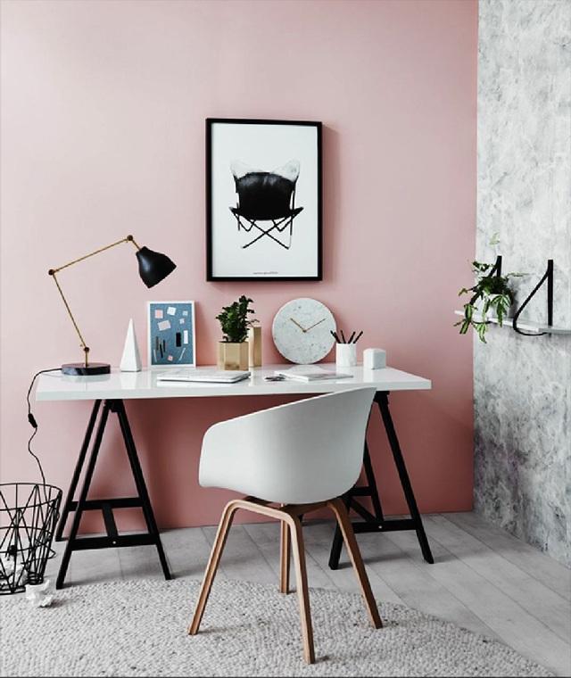 Những ý tưởng trang trí góc làm việc màu hồng ngọt ngào và mát lạnh dành cho các cô nàng đổi gió trong hè - Ảnh 2.