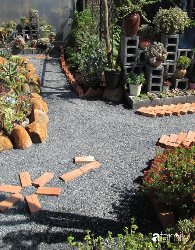 Chỉ tốn hơn 1 triệu đồng, mẹ trẻ biến hình mảnh đất nhỏ trở thành khu vườn trồng xương rồng, sen đá đẹp mê mẩn ở Đà Lạt - Ảnh 13.