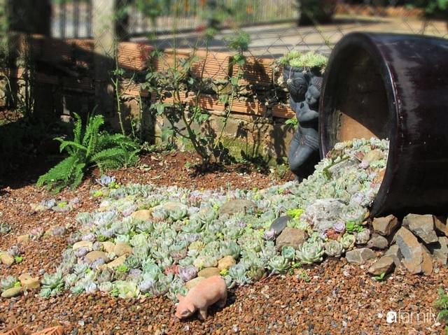 Chỉ tốn hơn 1 triệu đồng, mẹ trẻ biến hình mảnh đất nhỏ trở thành khu vườn trồng xương rồng, sen đá đẹp mê mẩn ở Đà Lạt - Ảnh 18.