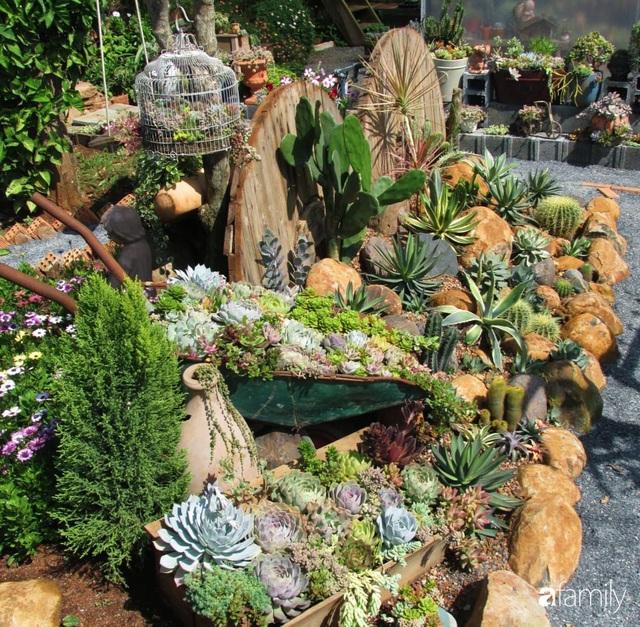 Chỉ tốn hơn 1 triệu đồng, mẹ trẻ biến hình mảnh đất nhỏ trở thành khu vườn trồng xương rồng, sen đá đẹp mê mẩn ở Đà Lạt - Ảnh 19.