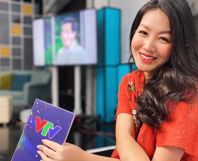 Vẻ xinh đẹp của MC Hồng Nhung Cà phê sáng - Ảnh 1.