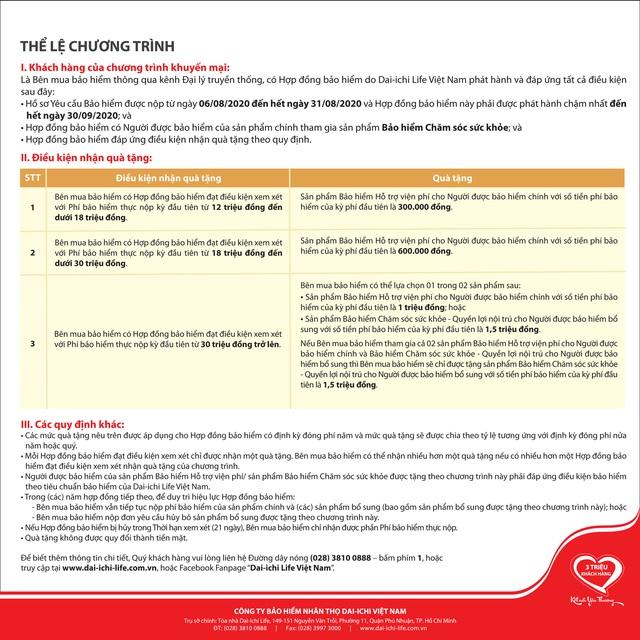 Dai-ichi Life Việt Nam tiếp tục triển khai chương trình khuyến mại An Khang Lộc Phát với tổng giá trị hơn 6,8 tỷ đồng - Ảnh 2.