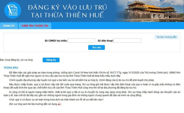 Thừa Thiên – Huế: Người dân phải khai báo y tế qua mạng trước khi vào địa bàn - Ảnh 2.