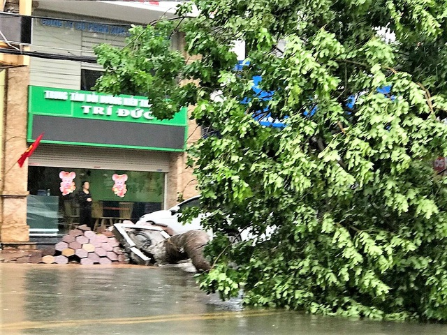 Hải Phòng: Nhiều tuyến phố ngập lụt sau bão số 2 - Ảnh 21.