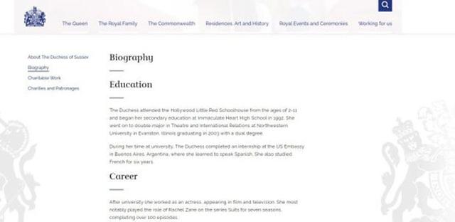 Hoàng gia xoá tiểu sử Meghan trên web chính thức - Ảnh 3.