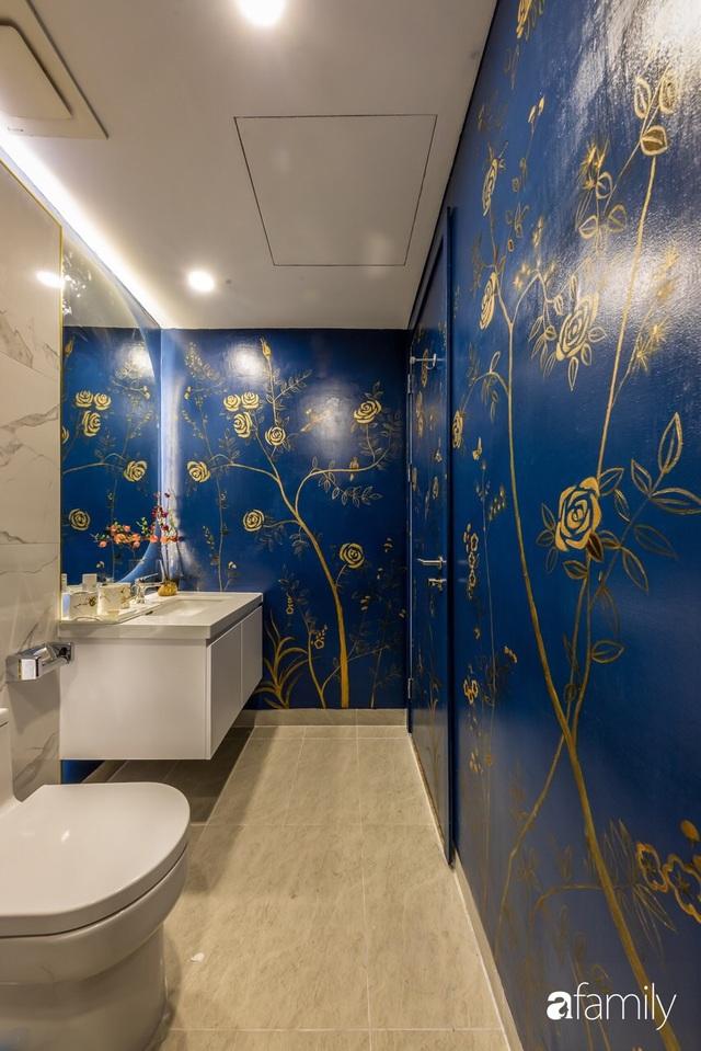 Căn hộ 60m² đẹp cá tính với điểm nhấn màu xanh sang trọng có chi phí hoàn thiện 300 triệu đồng ở TP. HCM - Ảnh 24.