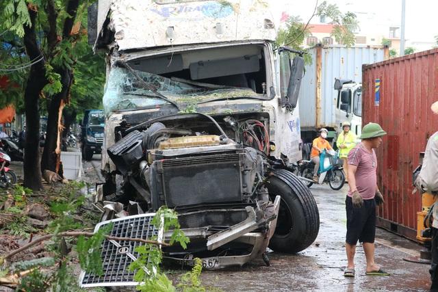 Hải Phòng: Nhiều nhà dân suýt chết vì tài xế container ngủ gật - Ảnh 3.
