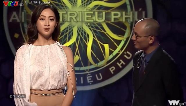 Lương Thuỳ Linh đối đáp hài hước với MC Ai là triệu phú - Ảnh 1.