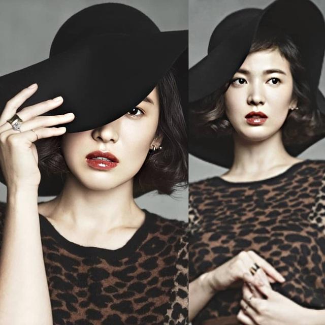 Nhan sắc của Song Hye Kyo xuất chúng đến nỗi cân đẹp mọi kiểu mũ dù sến hay lỗi thời tới đâu - Ảnh 8.