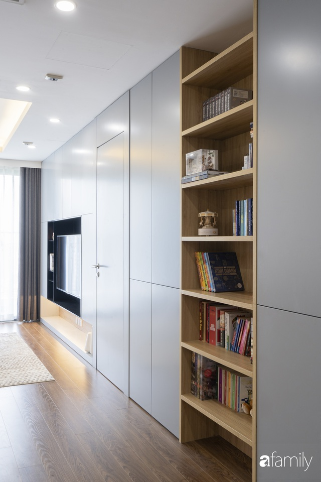 Căn hộ 96m² tối ưu hóa công năng dành cho vợ chồng trẻ lười dọn nhà có chi phí hoàn thiện 400 triệu đồng ở Hà Nội - Ảnh 16.