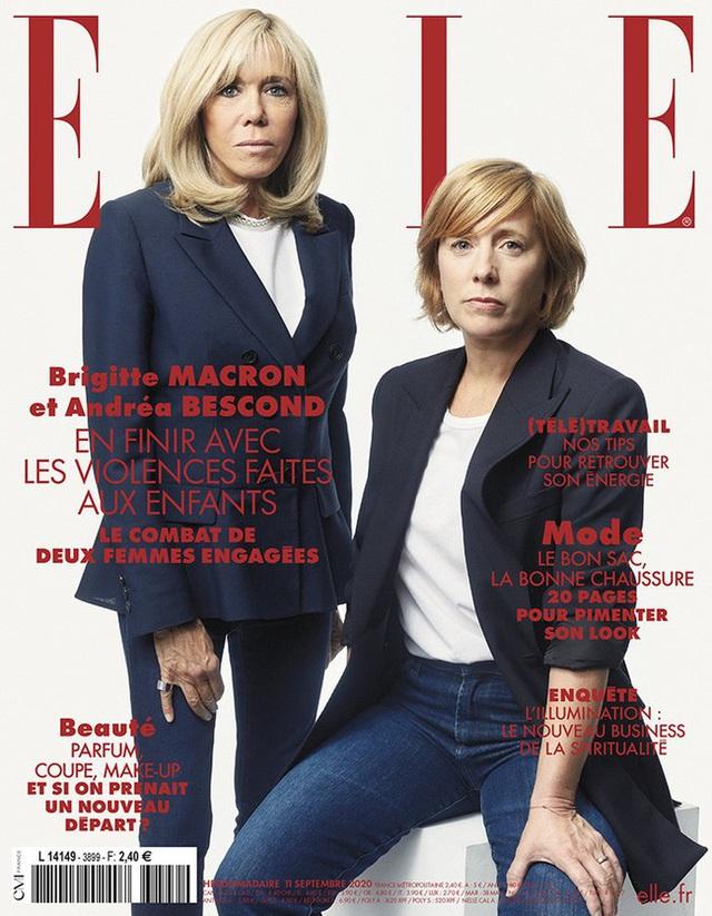Xuất hiện trên bìa tạp chí, vẻ ngoài của vợ Tổng thống Pháp lại bị dân mạng soi  - Ảnh 2.