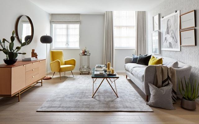 Căn hộ 54m² đẹp cuốn hút với gam màu xanh gần gũi với thiên nhiên có chi phí hoàn thiện nội thất 150 triệu đồng ở Hà Nội - Ảnh 1.