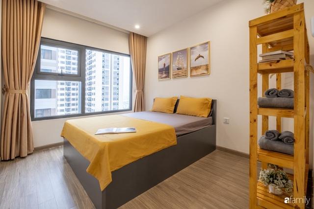 Căn hộ 54m² đẹp cuốn hút với gam màu xanh gần gũi với thiên nhiên có chi phí hoàn thiện nội thất 150 triệu đồng ở Hà Nội - Ảnh 14.