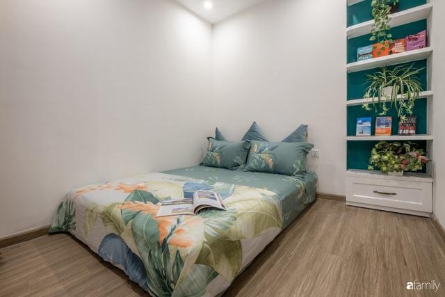 Căn hộ 54m² đẹp cuốn hút với gam màu xanh gần gũi với thiên nhiên có chi phí hoàn thiện nội thất 150 triệu đồng ở Hà Nội - Ảnh 17.