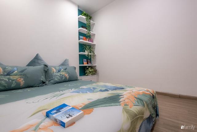 Căn hộ 54m² đẹp cuốn hút với gam màu xanh gần gũi với thiên nhiên có chi phí hoàn thiện nội thất 150 triệu đồng ở Hà Nội - Ảnh 18.