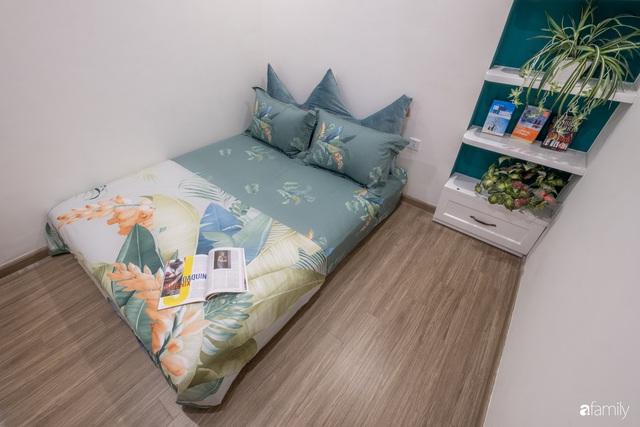 Căn hộ 54m² đẹp cuốn hút với gam màu xanh gần gũi với thiên nhiên có chi phí hoàn thiện nội thất 150 triệu đồng ở Hà Nội - Ảnh 3.