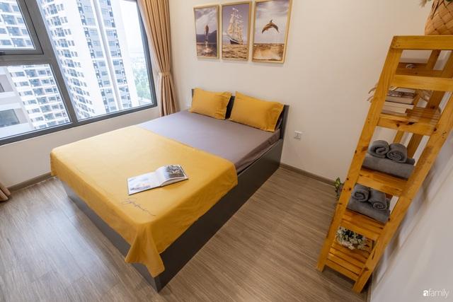 Căn hộ 54m² đẹp cuốn hút với gam màu xanh gần gũi với thiên nhiên có chi phí hoàn thiện nội thất 150 triệu đồng ở Hà Nội - Ảnh 4.