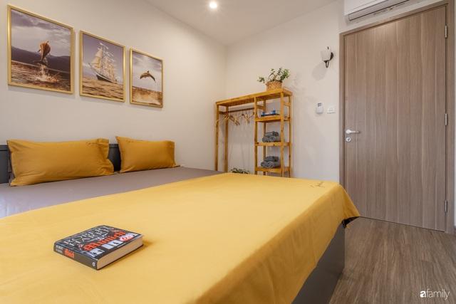 Căn hộ 54m² đẹp cuốn hút với gam màu xanh gần gũi với thiên nhiên có chi phí hoàn thiện nội thất 150 triệu đồng ở Hà Nội - Ảnh 5.