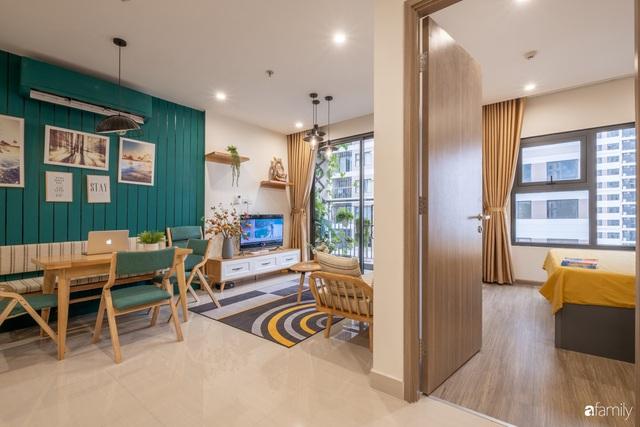 Căn hộ 54m² đẹp cuốn hút với gam màu xanh gần gũi với thiên nhiên có chi phí hoàn thiện nội thất 150 triệu đồng ở Hà Nội - Ảnh 10.