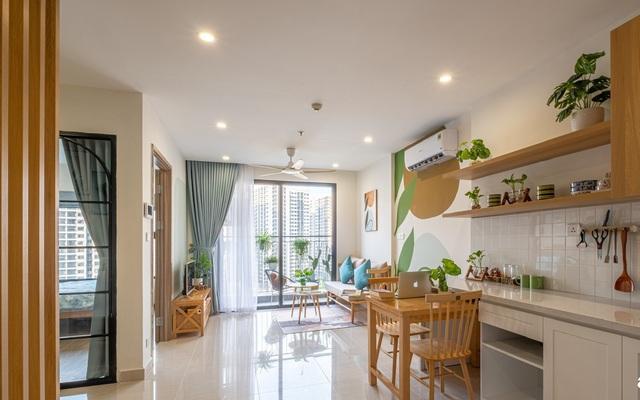 Căn hộ 71m² đẹp nhẹ nhàng, xinh yêu với màu xanh bạc hà có chi phí hoàn thiện 200 triệu đồng ở Sài Gòn - Ảnh 1.