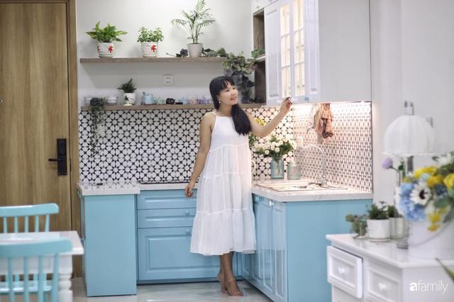 Căn hộ 71m² đẹp nhẹ nhàng, xinh yêu với màu xanh bạc hà có chi phí hoàn thiện 200 triệu đồng ở Sài Gòn - Ảnh 2.